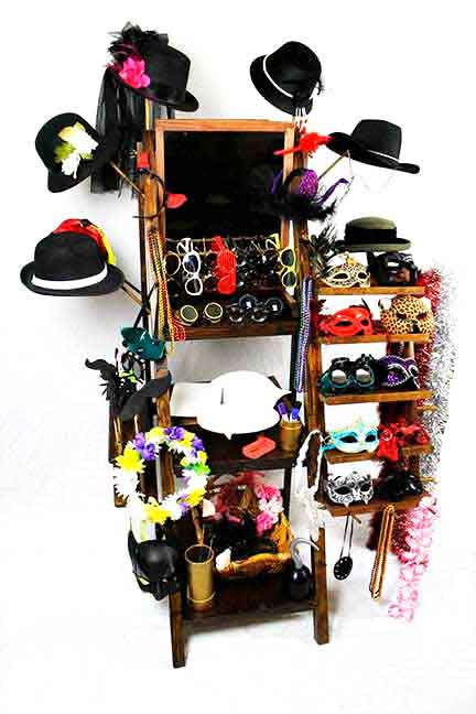 Western Saloon Photo Booth Prop Rack