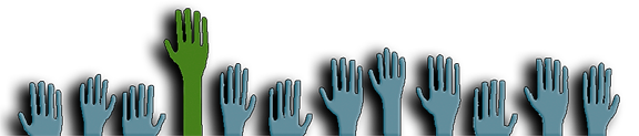 Why Choose Us Hand Up Logo