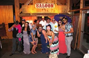 Our Rustic Western Saloon Photo Booth At A Kansas City Wedding Barn.