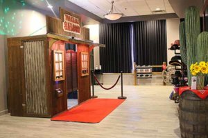 Our Rustic Western Saloon Photo Booth At A Kansas City Wedding Uptown Theater.