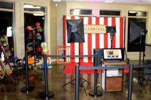 carnival themed red carpet photo booth shoot