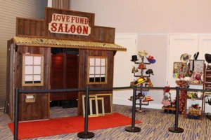 Our rustic saloon at a Fox 4 Love Fund event held for the Dream Factory.