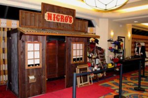 The saloon photo booth at a wedding for the Nigro's Western Store. At the Overland Park Marriott.