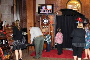 Steampunk Wedding Photo Booth In Kansas City.