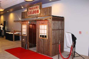 The saloon photo booth at a Dwight Yoakam concert for a charity event held at the Uptown Theater.