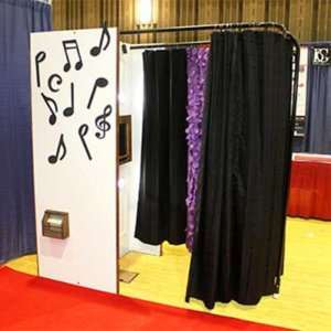 Our Chameleon Adjustable Photo Booth.