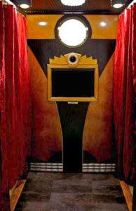 Roaring 20's Art Deco Photo Booth Interior.