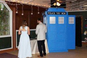 Dr Who Tardis police box wedding photo booth.